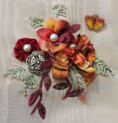 ribbonsmyth: Vintage Rayon Tape Floral Spray
