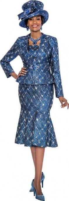 Style 3811 from Susanna is a long sleeve church dress.