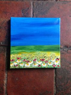 """ARTFINDER: """"Midnight Meadow"""" by Lucy Moore - Here is another piece to my 20x20cm Canvas Meadow collection  I wanted to try something a little different, I have used carving paste with acrylics to make..."""