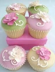 Resultado de imagen para cupcakes decoration flowers