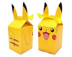 Pokémon - Caixa Milk - Pikachu  - Festa - Lembrancinha