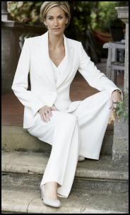 Long Tall Sally White Trouser Suit