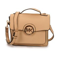 $65.99 Michael Kors Big Logo Medium Apricot Crossbody Bags hot sale,fast shipping!!