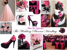 Pink and Black Wedding Theme (www.weddingplannerhandbag.co.uk)