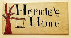 Name plate for mum's home