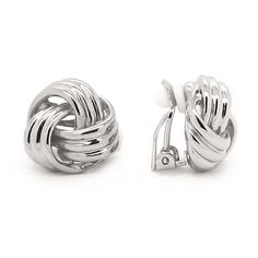 Sparkly Bride Love Knot Clip On Earrings Rhodium Plated Women Fashion *** Click image to review more details. (This is an affiliate link) #EarringsIdeas