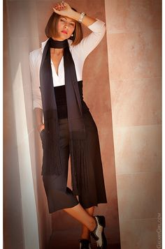 black & white office outfit by Galant Girl