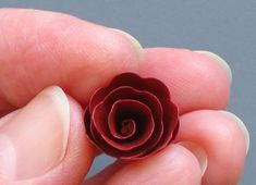 Spiral Rose Tutorial by Ann Martin