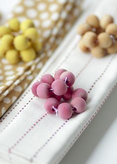 naturally dyed wood beads