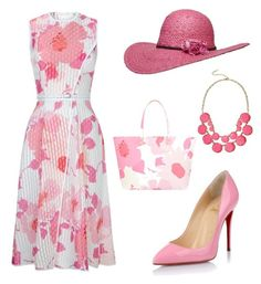A fashion look from April 2015 featuring sleeveless summer dresses, red sole pumps and blue tote bag. Browse and shop related looks. Party Fashion, Pink Fashion, Love Fashion, Fashion Looks, Fashion Outfits, Lawyer Fashion, Business Fashion, Pink Outfits, Stylish Outfits