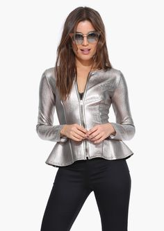 Glamatron Jacket in Silver | Necessary Clothing