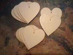 3mm MDF Craft Embellishment love heart 100m x 100mm x10 MDF hearts