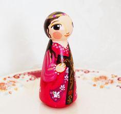 St Julia of Corsica Catholic Saint Doll Wooden by SaintAnneStudio
