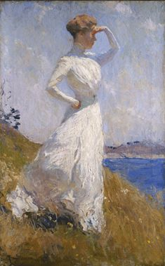 Art Reproduction on canvas of: Sunlight 1909 by Frank Weston Benson. Sunlight 1909 by Frank Weston Benson. This is a high quality Giclee Print reproduction. We only use the highest quality materials to create your art. Art Amour, American Impressionism, Art Et Illustration, Inspiration Art, Stretched Canvas Prints, Art Google, Love Art, Art Museum, Art History
