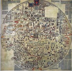 Medieval map dating back to 1000 A.D. before maps were even maps