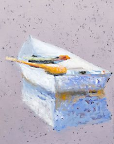Boat, Water, Canoe Oil Paintings | Carylon Killebrew Old Boats, Canoe, Decorative Boxes, Oil Paintings, Water, Artwork, Nautical, Cottage, Wall Art