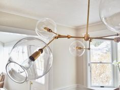 Handblown 12 Glass Globe Bubble Light by BLUEDOORFOUNDRY on Etsy, $5995.00