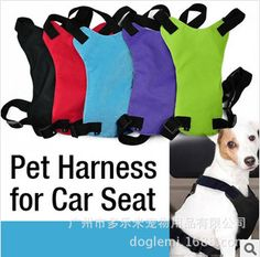 2014 New Pet Dog Adjustable Nylon Pet Harness for Car Seat Puppy Dog Clothing for Small Dogs