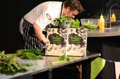 Mark Greenaway cooking with produce foraged by Miles Irving Edinburgh International Science Festival 2014