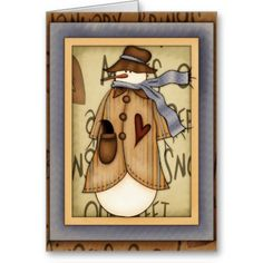 Wish a Merry Christmas to loved ones this holiday season with Primitive Christmas cards from Zazzle! Festive greeting cards, photo cards & more. Holiday Cards, Christmas Cards, Merry Christmas, Holiday Decor, Primitive Snowmen, Primitive Christmas, Deck The Halls, Garden Flags, All Things Christmas