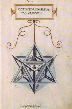 """Stella Octangula"" (Octocedron Elevatus Vacuus) - Leonardo Da Vinci"