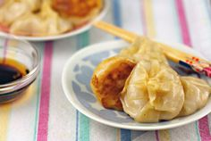 Red curry shrimp dumplings, on The Perfect Pantry.