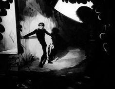 EL GABINETE DEL DOCTOR CALIGARI (1920)  CINE EXPRESIONISTA: dominan lo subjetico y musica a través de figuras que transmiten angustia.