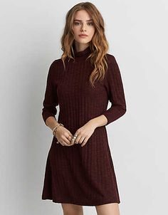172cfd9ddd AE Ahh-Mazingly Soft Turtleneck Sweater Dress