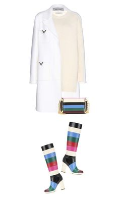 """White Rainbows"" by hollowpoint-smile ❤ liked on Polyvore featuring Valentino, women's clothing, women, female, woman, misses and juniors"