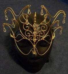 Bronze & Crystal Princess-Maske von BronzeSmith auf Etsy