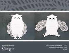 Paper Owl Toy by Yvonne Laube Designs Book Crafts, Arts And Crafts, Paper Crafts, Paper Owls, Modern Times, Paper Cutting, Book Art, Old Things, Wings