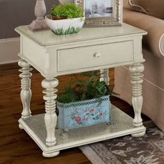 Paula Deen Home Rectangle Linen Wood End Table - 996802