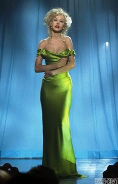 christina aguilera burlesque | Buy Christina Aguilera Burlesque Green Dress Celebrity Dress from ...