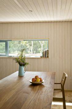 frisealach - dining / walls : limewashed softwood timber / cotton + hemp insulation