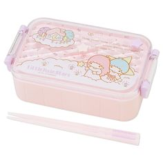 little twin stars bento box and chop sticks #sanrio