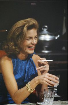 ^ Lauren Bacall's unique voice and sultry stare wasn't her only appeal. She loved her jewellery. Her most popular pieces were designed by a french designer, Jean Schlumberger. She often wore two 18k yellow gold ropework bracelets together since they could be attached and worn as one wide bracelet. Recently, they were auctioned off in New York and despite the pre-estate estimate of US $11000-16000 for the two, they sold for US $87,500.