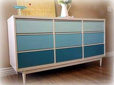 i have a very similar dresser one day i might want to paint like this!