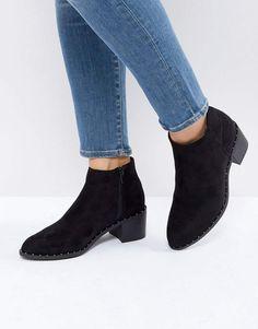 New Look Stud Detail Low Block Heel Chelsea Boot