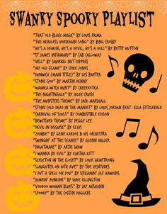 The post Swanky Spooky Playlist. appeared first on Halloween Party. Halloween Tags, Happy Halloween, Halloween Music, Halloween Birthday, Halloween Party Decor, Halloween 2018, Holidays Halloween, Halloween Crafts, Halloween Playlist Music