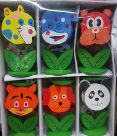 ♛ Shop8 : 12 pcs ANIMAL WOODEN PHOTO MEMO CLIP GIVEAWAYS | eBay Giveaways, Party Supplies, Greeting Cards, Animals, Ebay, Animales, Animaux, Animal, Animais