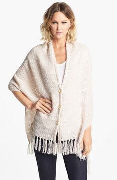 Nordstrom Fringed Button Front Wrap available at #Nordstrom