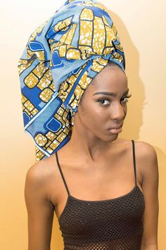 ON SALE Blue Puzzle Ankara Headwrap by HawasBoutique on Etsy