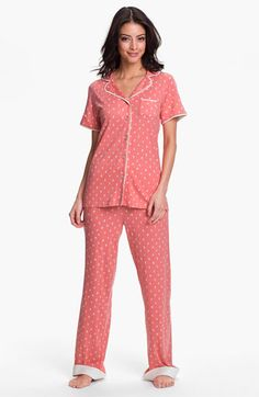 Munki Munki Short Sleeve Knit Pajamas available at #Nordstrom