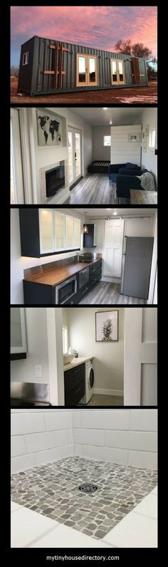 320 sq. ft - YES Please! Shipping Container – Corrugated steel with marine grade enamel finish Double pane, low-e, outward swinging ...