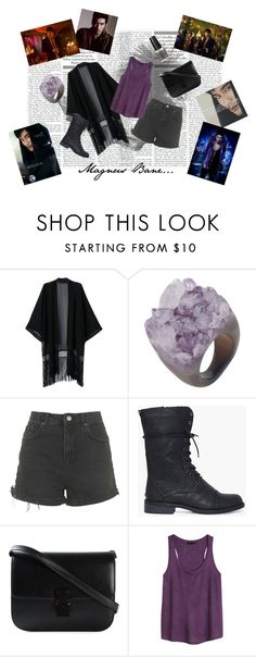 """""""magnus bane outfit"""" by elena-light178 ❤ liked on Polyvore featuring Decadorn, Topshop, CÉLINE, H&M and OPI"""