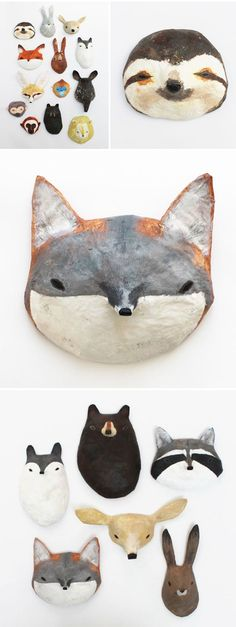 abigail brown - paper mache masks//