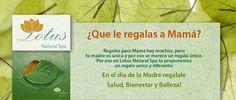 ¿Que le regalas a Mamá? Te podemos ayudar a regalarle el mejor regalo! aqui van un par de ideas: http://lotusnaturalspa.com/index.php/mothers-day?___store=english