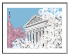 Supreme Court Spring on Capitol Hill wall by LITDigitalPaintings, $5.00