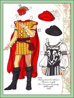 Romeo And Juliet Paper Dolls  Dover Publications Dolls And Doll Toys