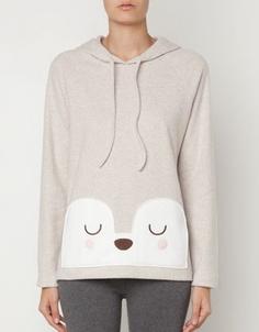 Animal patch fleece sweatshirt - Hoodies - Russia